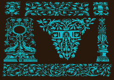 Set of  patterns for design Stock Images