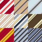 Set of patterns in a diagonal strip Stock Images