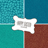 Set of patterns from Easter eggs Stock Image