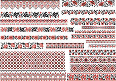 Set of Patterns for Embroidery Stitch Royalty Free Stock Photo