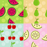 Set of Patterns: Fruit Theme Royalty Free Stock Photography