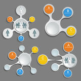 Set of patterns for infographics Stock Image