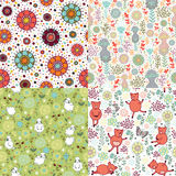 Set of patterns with nature Royalty Free Stock Photo
