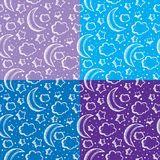 Set of patterns with night sky Stock Photos
