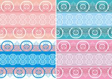 Set of patterns in oriental style. Vector patterns in oriental style Royalty Free Stock Photography