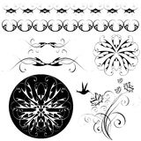Set of patterns and ornaments Stock Photos