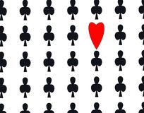 A metaphor of stand out. A set of patterns from poker. a metaphor of stand out Stock Photos