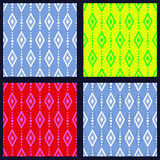 Set of patterns with rhombuses Stock Photos