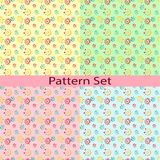 Set of patterns with the roulettes and dots Stock Photo