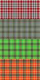 A set of patterns - Scottish plaid. Stock Photos