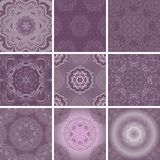 Set of patterns for scrapbooking in lilac tones. Vector EPS10 vector illustration
