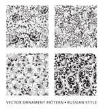 Set of patterns. Stock Image