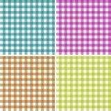 Set of patterns tablecloths stylish a illustration design  Royalty Free Stock Image