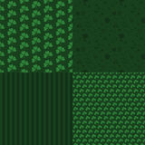 Set of patterns to the St. Patricks Day Royalty Free Stock Images