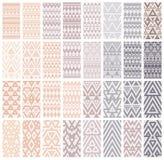 Set of 24 patterns. Stock Photos