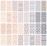 Set of 24 patterns. Stock Photography