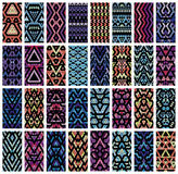 Set of 32 patterns. Stock Photo