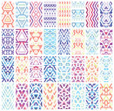 Set of 32 patterns. Royalty Free Stock Photography