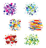 Set of Patterns - Various Shapes and Colors Stock Image