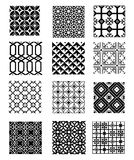 Set of patterns Royalty Free Stock Photo