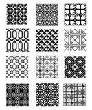 Set of patterns Royalty Free Stock Photo