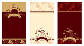 Set of patterns for wine labels Royalty Free Stock Images