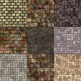Set of pavement seamless generated textures Stock Photo