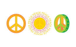 Set of peace symbols Royalty Free Stock Photo