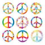 Set of peace symbols Stock Photos