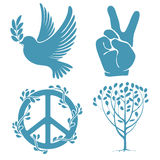 Set of peace symbols Royalty Free Stock Photography