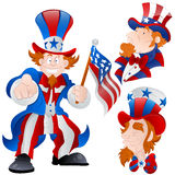 Set of Peaceful Uncle Sam Vector Stock Photography