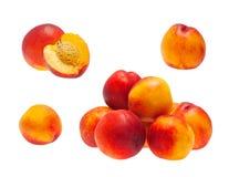 Set of Peaches Royalty Free Stock Photos