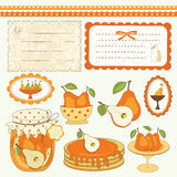 Pear scrapbook Royalty Free Stock Photography