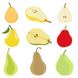 Set of pear. Royalty Free Stock Photo