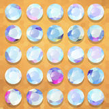 Set of pearl precious stones round vector Royalty Free Stock Images