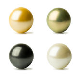 Set of pearls of different colors Royalty Free Stock Photos