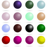 A set of pearls. Flat design, illustration stock illustration
