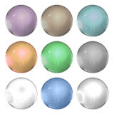 Set of pearls Royalty Free Stock Photos
