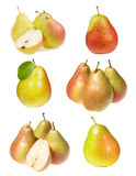 Set with pears Royalty Free Stock Photos