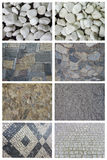 Set of pebble. Royalty Free Stock Images