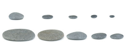 Set pebbles Stock Photos