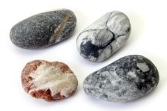Set of pebbles on a white background royalty free stock images