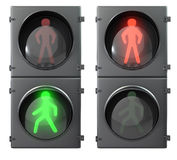 Set of pedestrian light lights Royalty Free Stock Photography