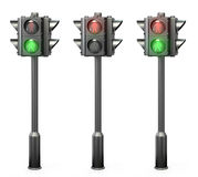Set of pedestrian traffic lights Royalty Free Stock Photos