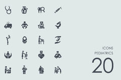 Set of pediatrics icons Royalty Free Stock Photography