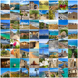 Set of Peloponnes pictures, Greece Royalty Free Stock Images
