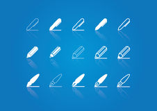 Set of pen / pencil icons royalty free stock photo