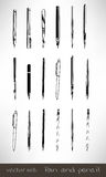 Set of Pen and Pencil Vector Royalty Free Stock Photos