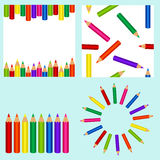 Set with pencil Stock Image