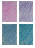 Set of pencil color art background Stock Photography